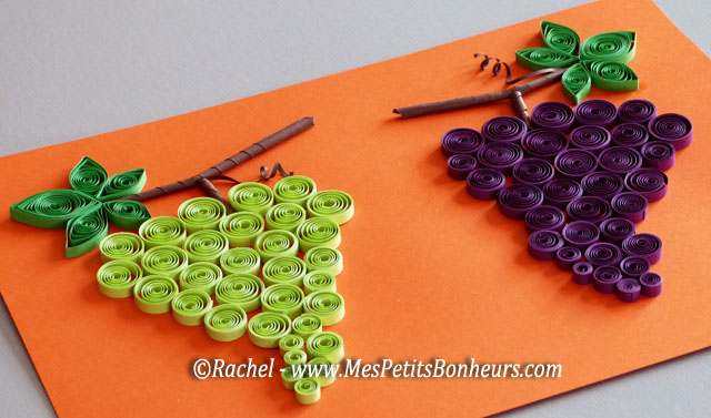 Top Bricolage sur le thème du raisin: grappes en papier roulé  TK92