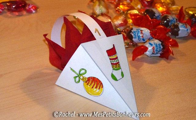 Calendrier de l avent en papier bricolage facile de - Comment mettre des guirlandes sur un sapin de noel ...