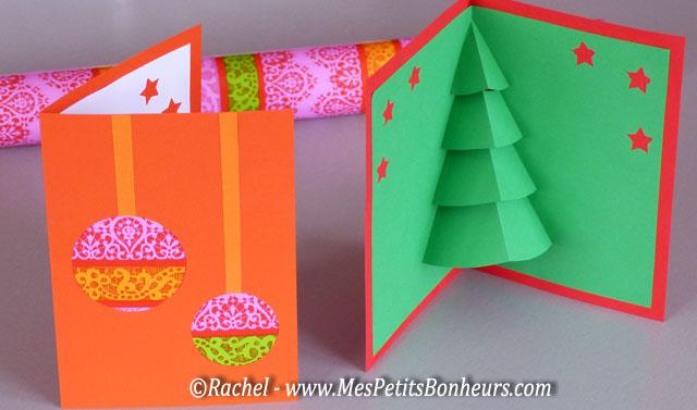 Carte 3D Noël: pop-up sapin à imprimer, découper, décorer...