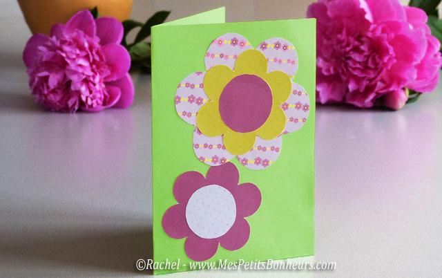 Carte pop up pour la f te des m res d coupage collage - Carte fete des meres a imprimer ...