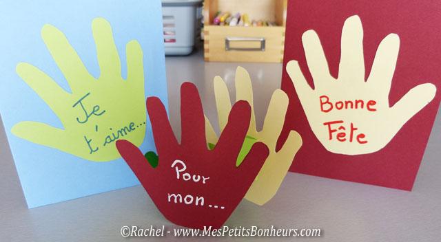 Carte fête des pères à faire avec les petits, maternelle ou préscolaire