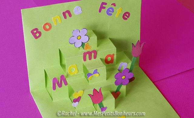 Carte pop-up pour la fête des mères - découpage collage à imprimer