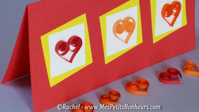 Quilling et paperolles mod les et tutos en papier roul - Bricolage st valentin facile ...