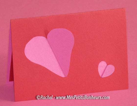 Saint valentin carte 3d coeurs mod le imprimer et - Carte saint valentin a fabriquer ...