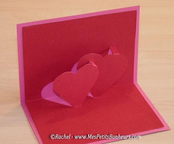 Saint valentin carte 3d coeurs mod le imprimer et - Carte pour la saint valentin a fabriquer ...