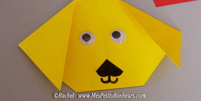 chien en pliage origami facile – activité papier à faire avec