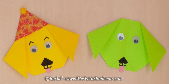 Top Chien en pliage origami facile – Activité papier à faire avec  TU18