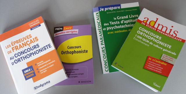 concours orthophoniste - livres et annales