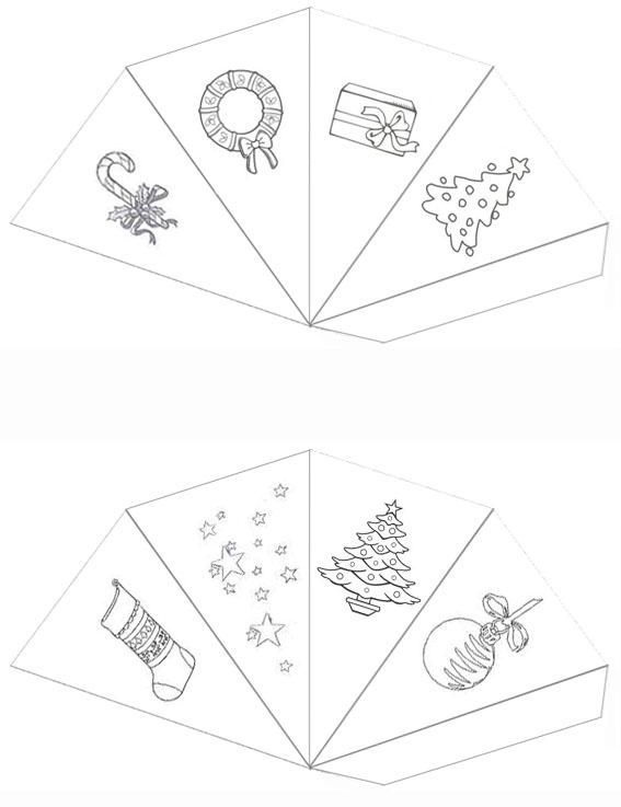 calendrier de l 39 avent en papier bricolage facile de. Black Bedroom Furniture Sets. Home Design Ideas