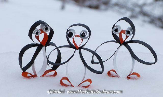 copains pingouins dans la neige franc comtoise