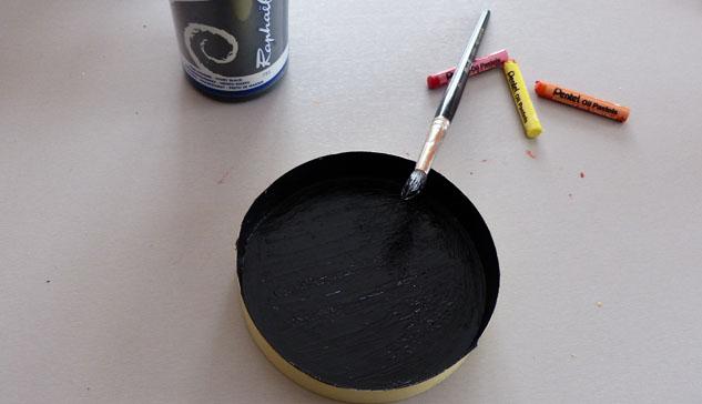 Idée Bricolage: Cartes à gratter multicolore Couche-noire-acrylique