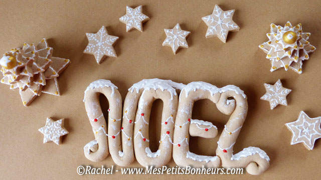 No l en p te sel d coration en faux pain d 39 pices suite - Pate a sel noel decoration ...