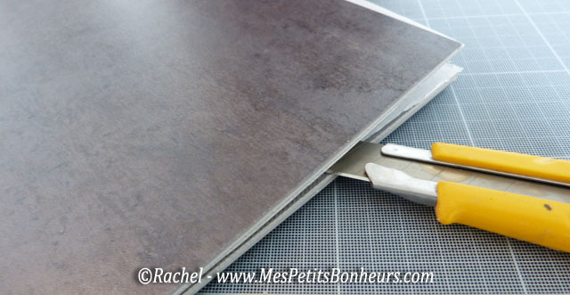 Pose de dalles gerflor carrelage min ral la salle de - Dalles murales adhesives ...