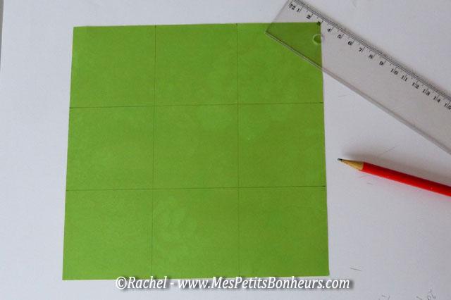 découpe du carré en 9 carrés