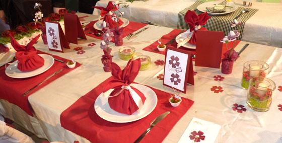 déco de table rouge #2