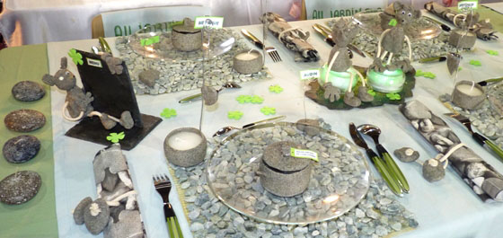 Cr ativa metz 2010 achats pratiques et d coration de table photos - Decoration jardin boule pierre ...
