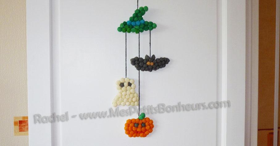 Halloween en flocons de ma s bricolage enfant pour d co for Deco halloween chauve souris