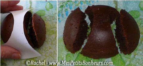 Recette gateau au chocolat avec lapin de paques