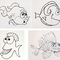 dessins poissons