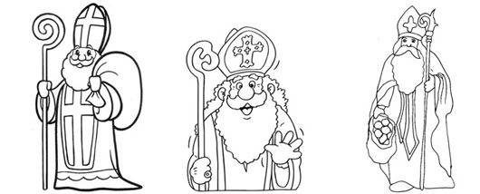 dessins saint nicolas