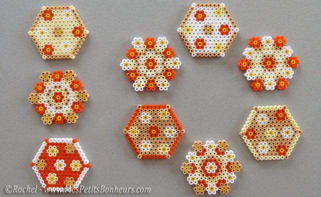 cadeau f te des m res fabriquer dessous de verres en perles hama. Black Bedroom Furniture Sets. Home Design Ideas