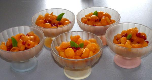 entr e pour l t melon aux groseilles id e recette