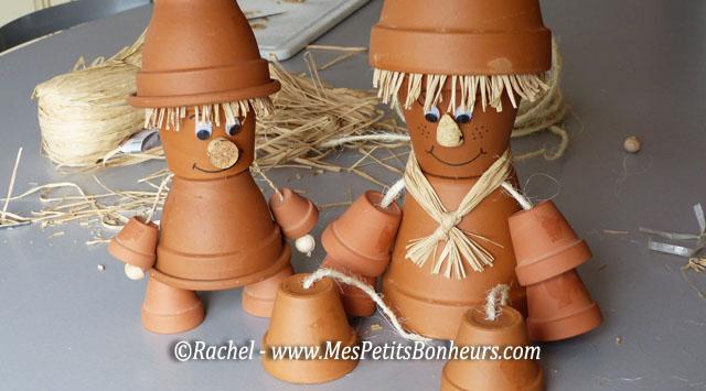 fabriquer des personnages avec des pots en terre cuite a holidays oo. Black Bedroom Furniture Sets. Home Design Ideas