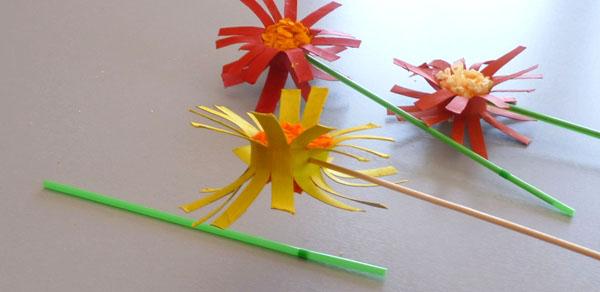 Bricolage fleurs en rouleau de carton papier toilette - Fleur papier toilette ...