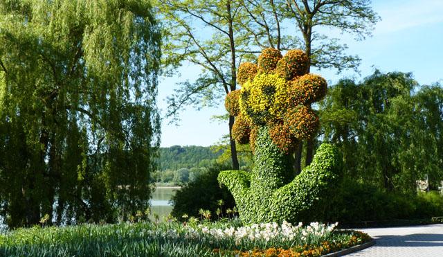 L'art topiaire! Fleur-de-lile-de-Mainau