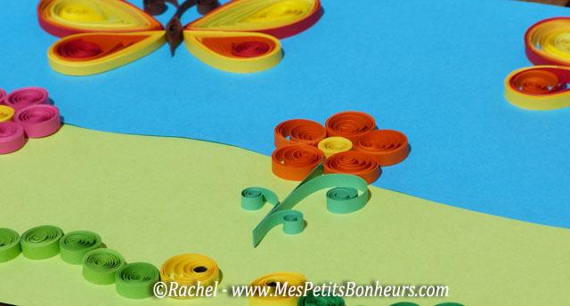 Mod le facile en quilling fleurs et chenilles faire - Comment faire un bricolage facile ...
