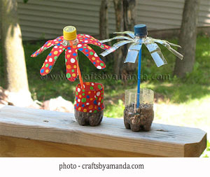 Bricolage fleurs en bouteilles plastique du recyclage - Fleur en bouteille plastique ...