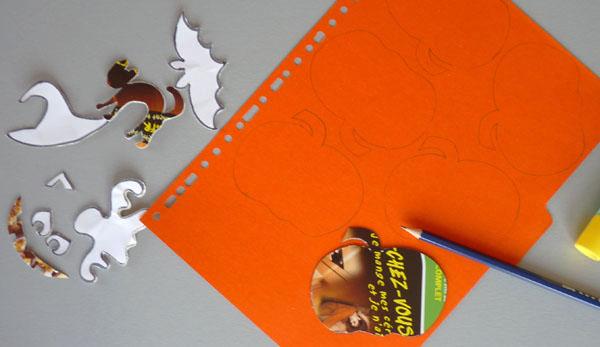 D coupage halloween citrouilles d cor es suspendre bricolage enfant - Citrouille halloween en papier ...