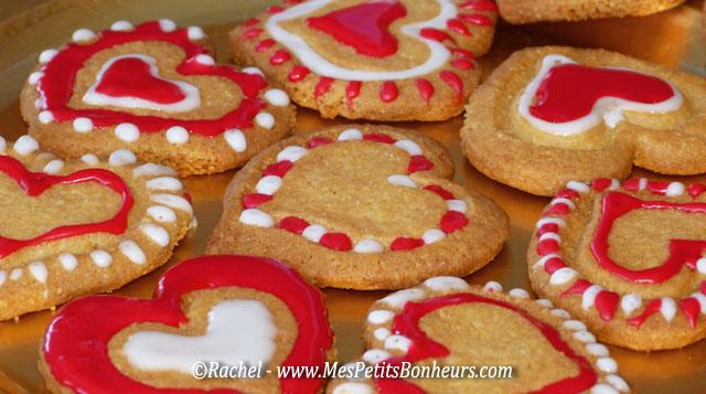 gateaux sablés coeurs saint valentin