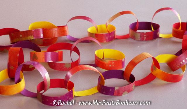 D co de no l guirlandes anneaux en papier bricolage facile for Bricolage guirlande de noel