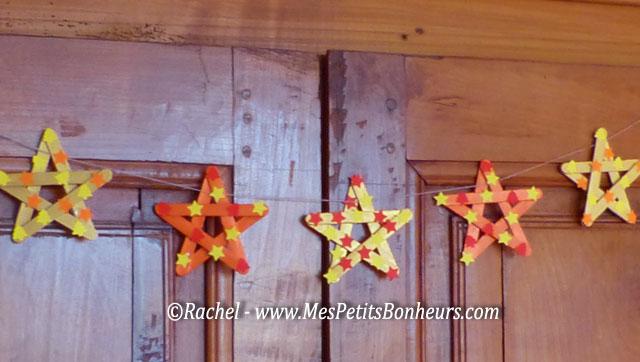 Bricolage d co pour no l toiles en b tonnets de bois Magasin de bricolage pour enfant