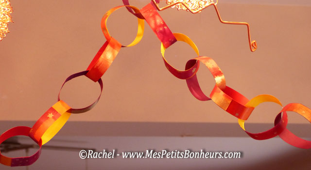 D co de no l guirlandes anneaux en papier bricolage facile - Decoration de noel a faire avec des enfants ...