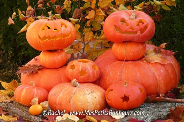 D co halloween mes petits bonheurs - Model citrouille d halloween ...