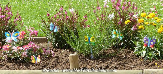 déco jardin papillon