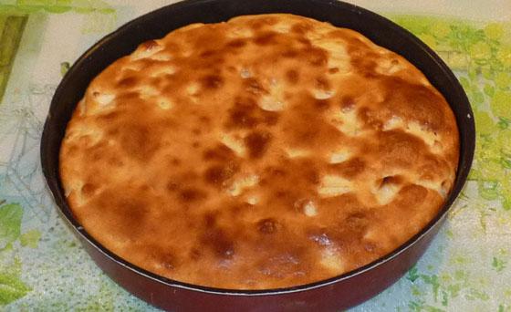 dessert facile et léger : gâteau aux pommes au fromage blanc