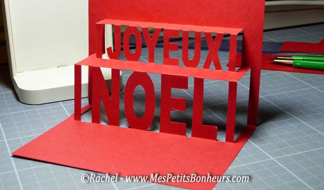 Carte pop up kirigami joyeux noel imprimer - Carte de noel a fabriquer en 3d ...