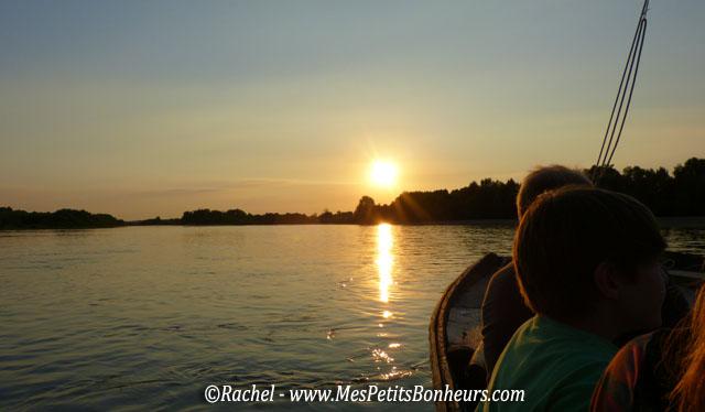 le soleil décline sur la Loire