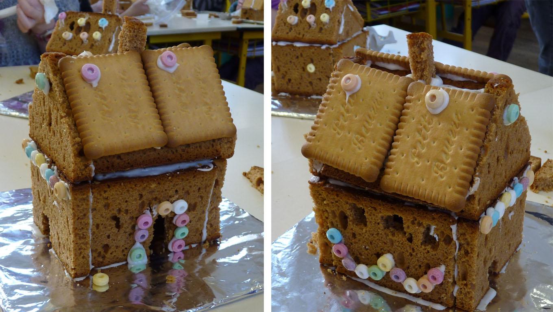 Maison en pain d 39 pice bricolage l 39 cole avec les enfants for Maison en biscuit de noel