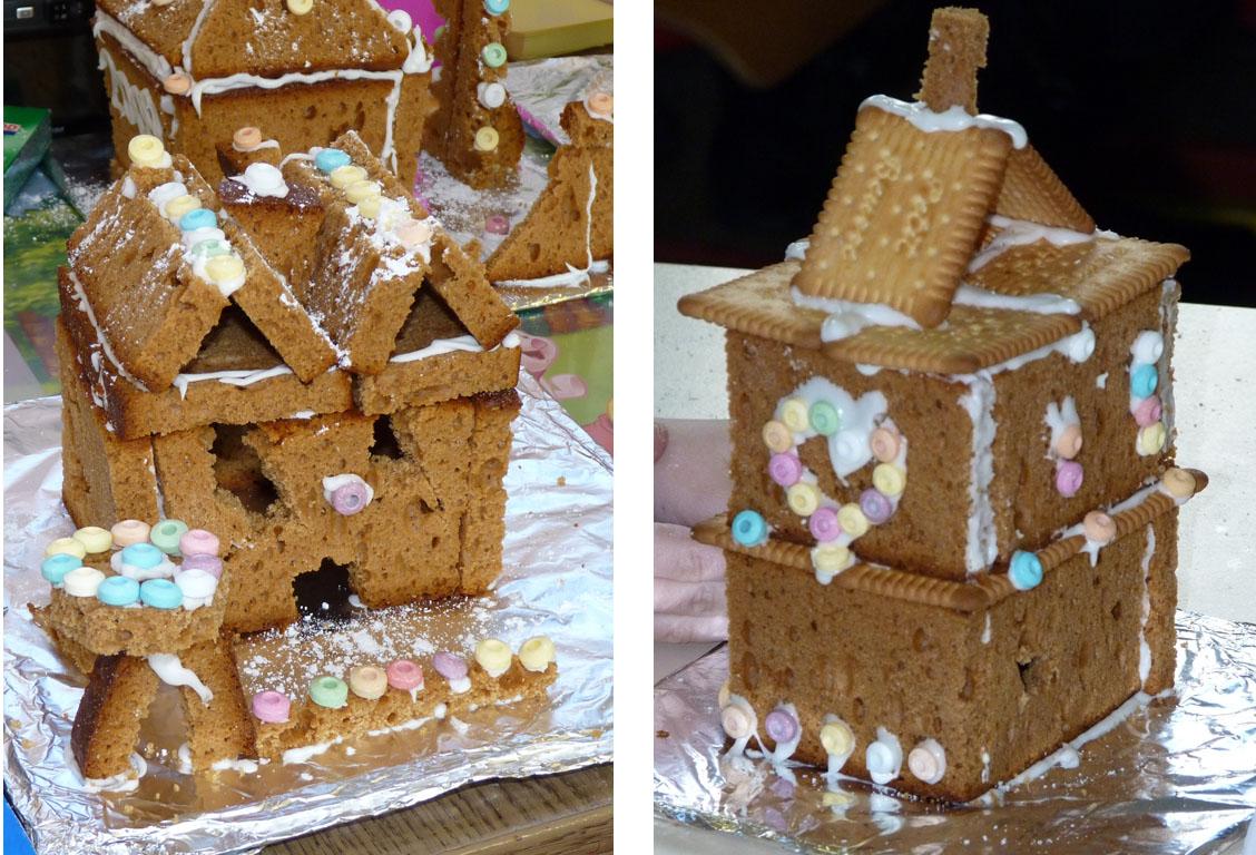 Maison en pain d 39 pice bricolage l 39 cole avec les enfants - Maison en pain d epice fimo ...