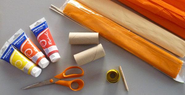 Bricolage fleurs en rouleau de carton papier toilette - Materiel de bricolage ...