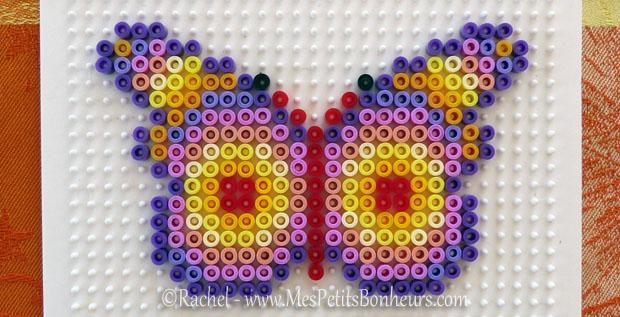 Mod les de papillons en perles repasser hama bricolage for Petit miroir rond a coller