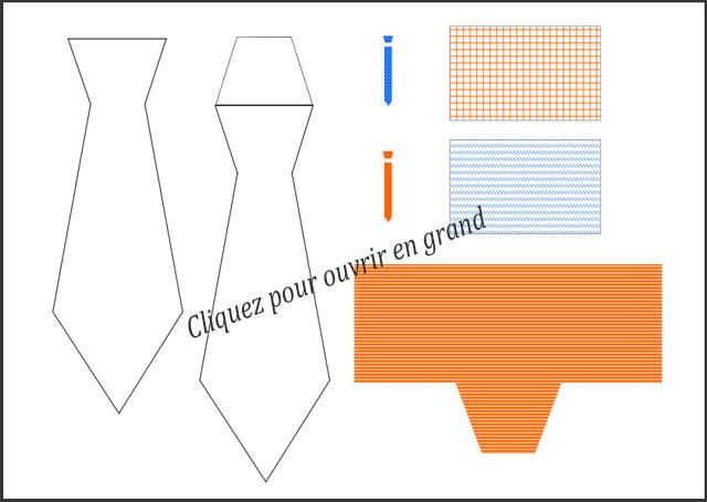 Bricolage f te des p res marque page cravate imprimer d coupage pliage - Fabrication de marque page ...
