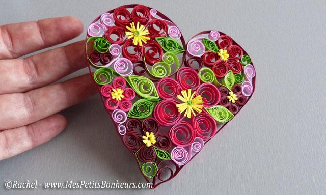Motif coeur, et par conséquent, j'ai aussi fabriqué une enveloppe