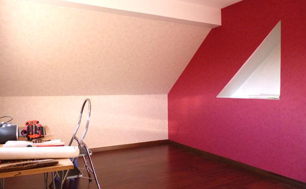 Bricolage et d co fille pour chambre ado aux couleurs rouge et blanc for Chambre mur rouge et noir