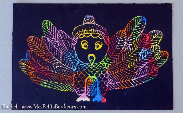 Id e bricolage carte gratter couleur oiseau imaginaire for Oiseau par la couleur