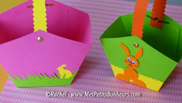 Bricolage petit panier en papier fabriquer pour les oeufs de p ques - Panier de paques a fabriquer ...